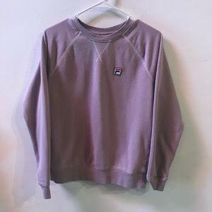 Lavender Fila Crew Neck Sweater S